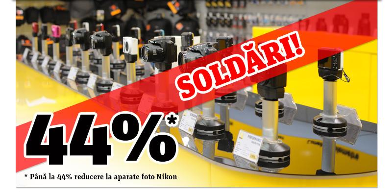 Pana la 44% reducere la aparatele Nikon