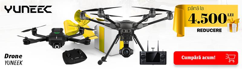 Pana la 4500 lei reducere la dronele Yuneec